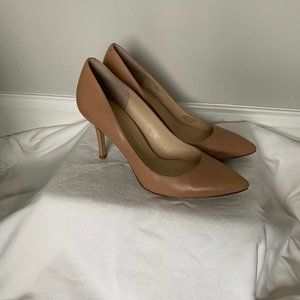 """Matted Nude Pointy Heels 3"""" Enzo Angiolini"""